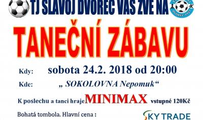 Taneční zábava TJ Slavoj Dvorec