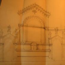 Plán oltáře v býv. kapli